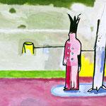 Im Pusenhof des Narren, 2014, 70 x 50 cm