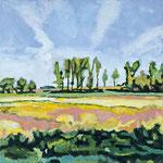 Landschaft bei Nieby, 40 x 40 cm