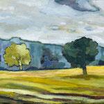 Bäume im Feld, 40 x 30 cm