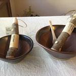 石見焼すり鉢&霧島産すりこぎ&竹スクレーパー このセットでお使いいただくと、とっても心が満たされますよ~。