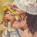 Doppelportrait mit Hüten