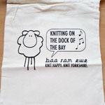 Projektbeutel aus Baumwolle mit witzigen Sprüchen (verschiedene verfügbar)