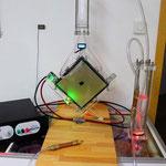 Komplettes DryCell-Setup mit schönen bunten Neonröhren versehen.