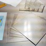 Die zugeschnittenen Stahlplatten