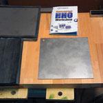 Bauanleitung, Stahlplatten und Gummidichtungen