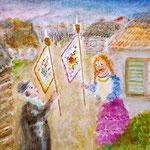 Carrying The Torah Flags