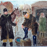 Jewish Horse Traders Oiling Their Boots