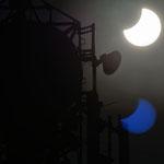 Zaćmienie słońca w pobliżu masztu telekomunikacyjnego (ul.Lipowa), 20.03.2015