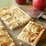 薄切りリンゴのパイ