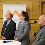v. l. Dr. Wolfgang Weber, OTH-AW, Dr. Manuel Trummer, UNI-Regensburg, Prof. Dr. Jaroslav Dokoupil, Westböhmische Universität Pilsen