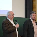 v. l. Josef Schönhammer, 1. Vors. der Akademie, Jürgen Herda, Chefredakteur von Der neue Tag