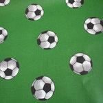 besch. Baumwolle (PVC) - Fussball grün