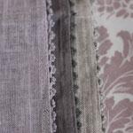 Platzset - oldrose + linen grey + linen