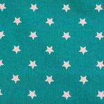 besch. Baumwolle (PVC) - Sterne STRATOS petrol