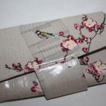 besch. Baumwolle - Birdcage toffee mit Riegel & Magnetverschluss - NOCH VERFÜGBAR :)EUR 69