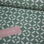 besch. Baumwolle - Fleur de Soleil - Mosaik - VERTE - grün