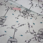 Baumwolle Au Maison: Birdcage verte - METERWARE