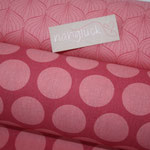 Baumwolle Au Maison - OBEN: Alli raspberry / peachy pink  UNTEN: Super Dots raspberry / peachy pink - AUSVERKAUFT