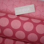 Baumwolle AU Maison - OBEN: Design: Alli - Farbe: raspberry / peachy pink  UNTEN: Design: Super Dots - Farbe:  raspberry / peachy pink
