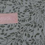 besch. Baumwolle AU Maison - Meadows / Wiesenblumen  - moss - METERWARE