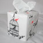 beschichtete Baumwolle - BIRDCAGE white/charcoal/NEON