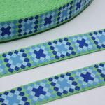Mosaik grün - Mosaik in blautönen - Design: Franca Tack - 15 mm breit - EUR 2,30/m