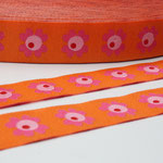 Woodpecker Flowers - orange - Design: Bienvenido Colorido 2014 - 15 mm breit - EUR 1,60/m