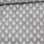 Baumwolle Au Maison: Tear drops - toffee - METERWARE