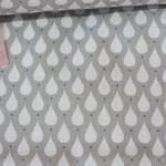 Baumwolle Au Maison: Design: Teardrops - Farbe: toffee - AUSVERKAUFT