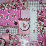 Wachstuch - Patchwork pink / rosa