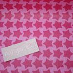 besch. Baumwolle- STAARS von Farbenmix in PINK :) AUSVERKAUFT !!!!