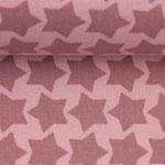 besch. Baumwolle - Farbenmix: Staaars altrosa auf rosa