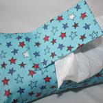 Design: türkis mit bunten Sternen   NOCH ZU HABEN