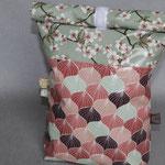 besch. Baumwolle v. Au Maison: Kirschblüte verte & Alli canyon rose