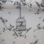 Coated Fabric - Birdcage charcaol - Au Maison - Meterware