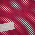 Baumwolle Au Maison: Dots cherry (kirschrot)  - METERWARE