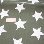 besch. Baumwolle Au Maison (PVC): STAR GIANT - Sterne GIANT khaki   z. Zt. nur für Anfertigungen verfügbar