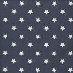 Baumwolle: Au Maison - Design: STAR Big - Sterne Big - Farbe: midnight blue (dunkelblau)