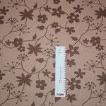 besch. Baumwolle (Acryl) - Miranda - braune Blumen auf schlammfarbenen Grund