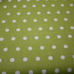 beschichtete Baumwolle - grün mit kleinen weißen Punkten  AUSVERKAUFT