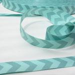 Chevron smaragd grün - Design: farbenmix 2014 - 12 mm breit - EUR 1,30/m