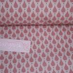 Baumwolle - AU Maison - Design: Teardrops - Farbe: canyon rose - RESTMENGE