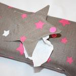 Design: schlamm mit pink / weißen Sternen .. mit Sterne-Klappe