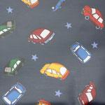 besch. Baumwolle (PVC) - Autos dunkelblau