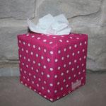besch. Baumwolle - pink mit weißen Punkten