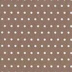 beschichtete Baumwolle  -  schlamm  mit kleinen weißen Punkten