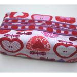 Applecake rot / rosa / pink mit Lotzadots-Webband