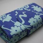 Baumwolle - Amy Butler - Love Bali Gate Periwinkle blauviolett mit Riegel & Magnetverschluss