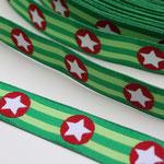 Sterne grün - Design: Franca Tack - 15 mm breit - EUR 2,50/m