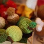 gehäkletes Obst / Gemüse .. Äpfel, Bananen, Erdbeeren, Pilze, Kirschen .. von Hannah